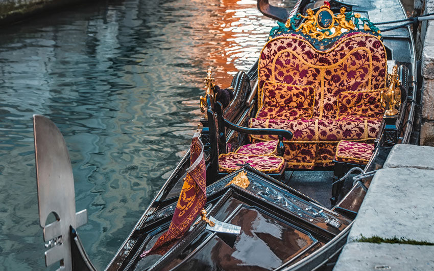 Gondola detail at Grand canal
