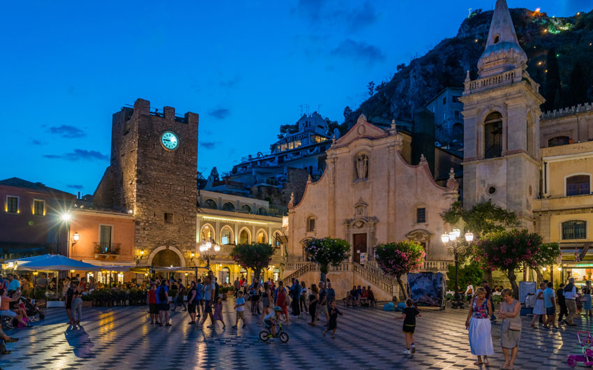 Taormina in a summer evening