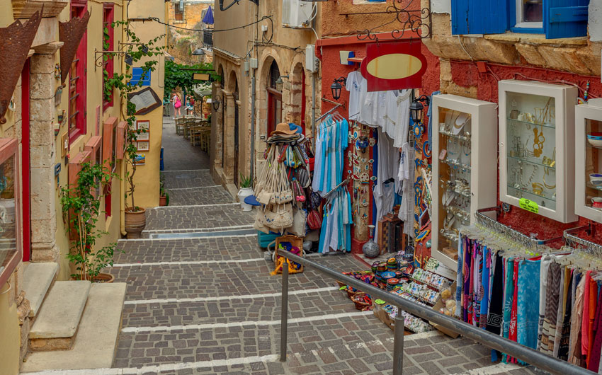 Souvenir shops in Chania, Crete