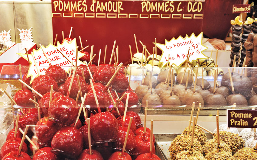 Pommes d'amour, French market