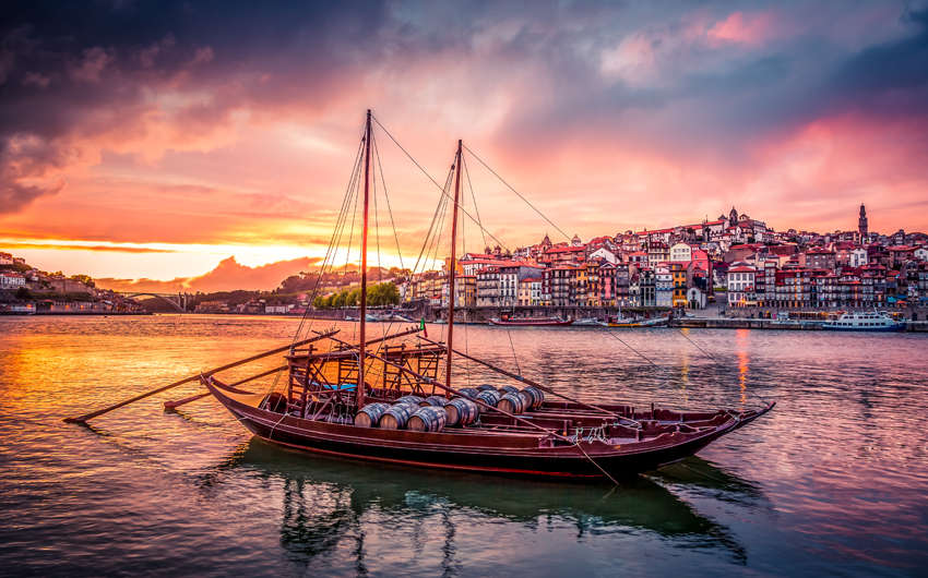 Rabelo Boats on Douro River, Porto
