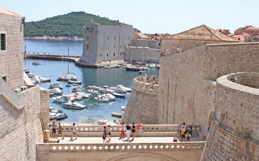 Old town and harbor of Dubrovnik