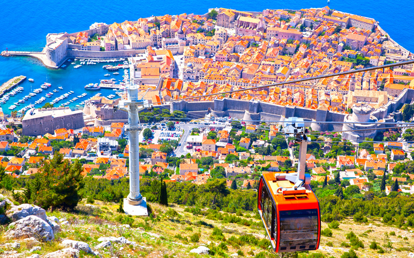 Cable way in Dubrovnik