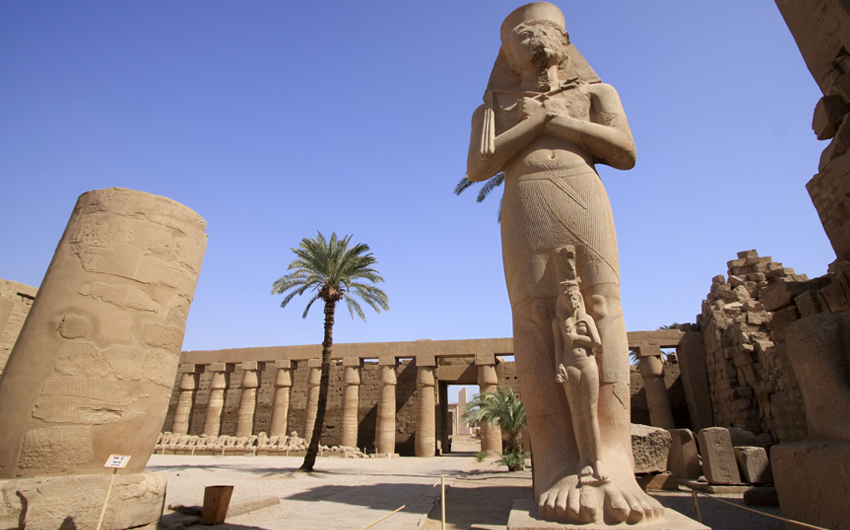 Close-up of the Ramses II statue, Luxor