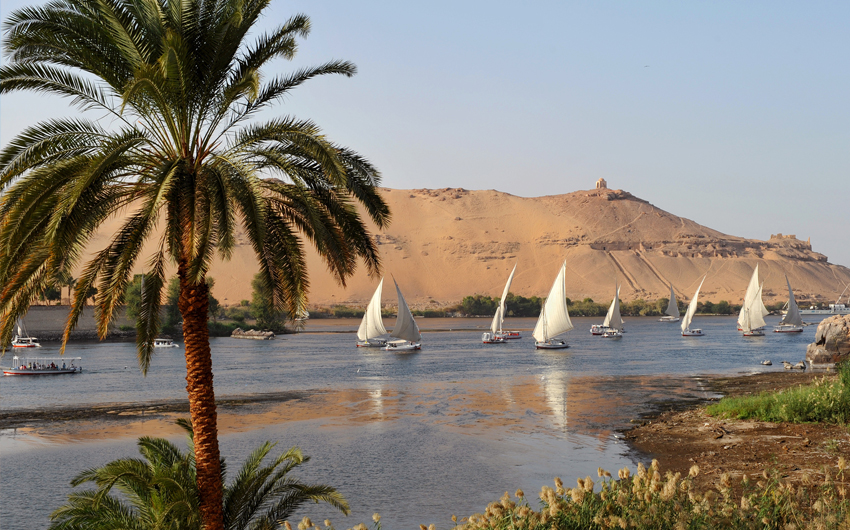 Felucca Boat on Nile River, Aswan