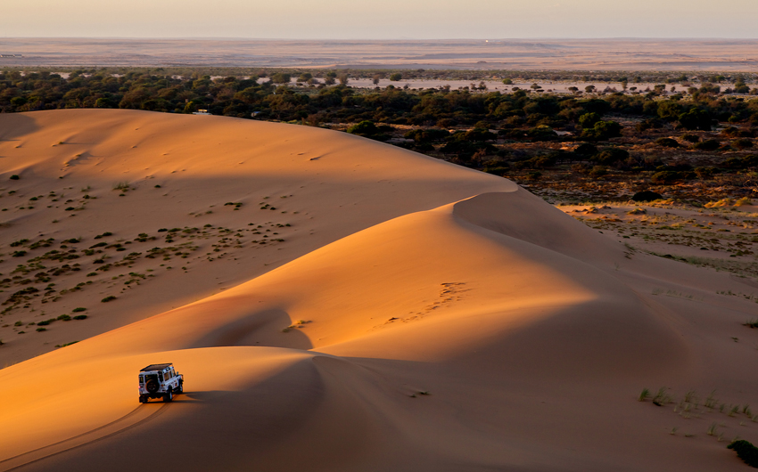 Desert of Dubai in a 4x4 vehicle