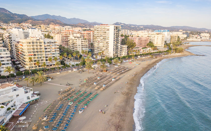 Aerial view of Marbella