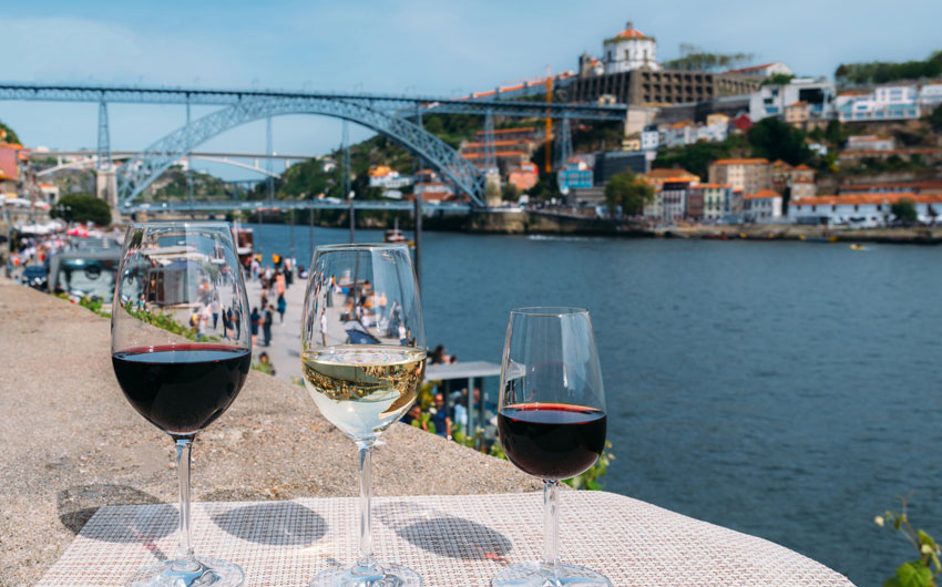 Porto wine with a view