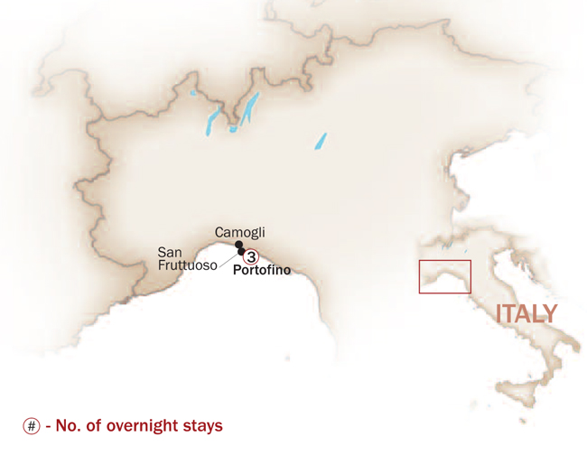Italy Map  for PORTOFINO, A JET SET TRAVEL SECRET HIDEOUT