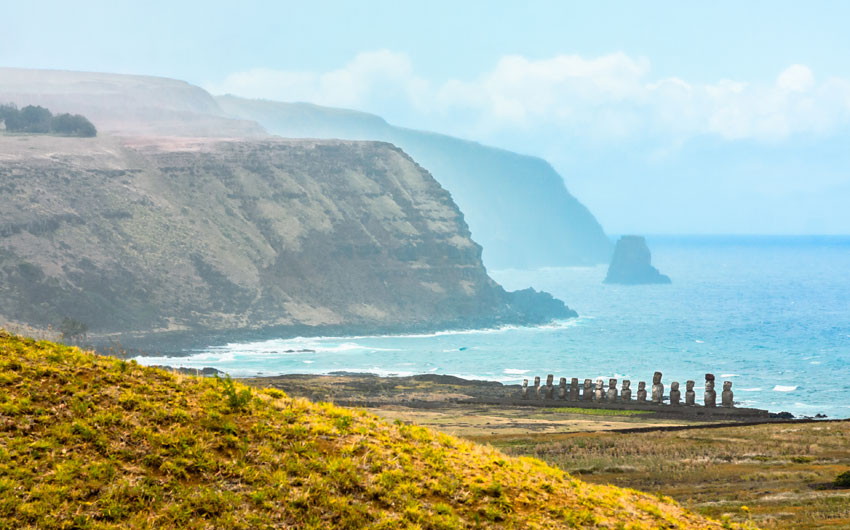 Dramatic Coastline of Easter Island