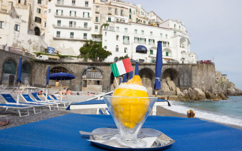 Lemon Sorbet on the Amalfi Coast