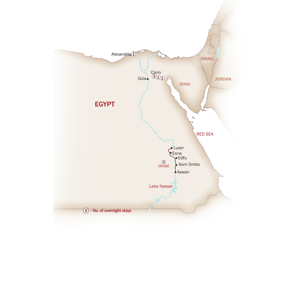 Egypt Map  for EGYPT: CROSSROADS OF CULTURES AND FAITHS
