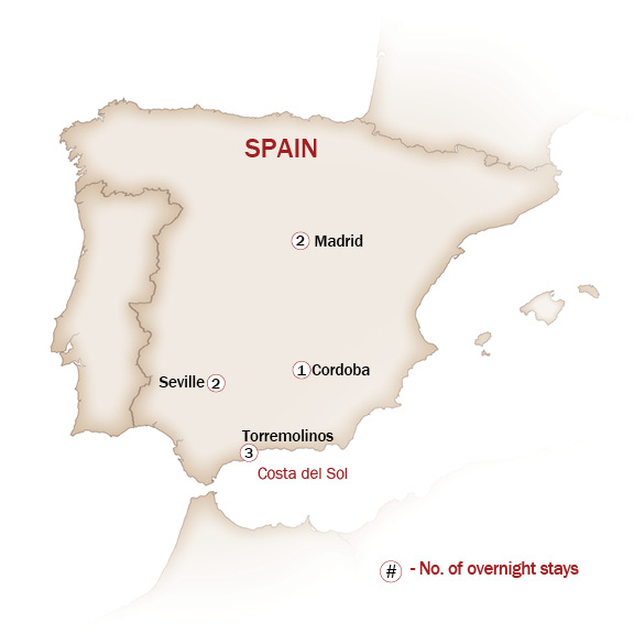 Spain Map  for HEART OF SPAIN
