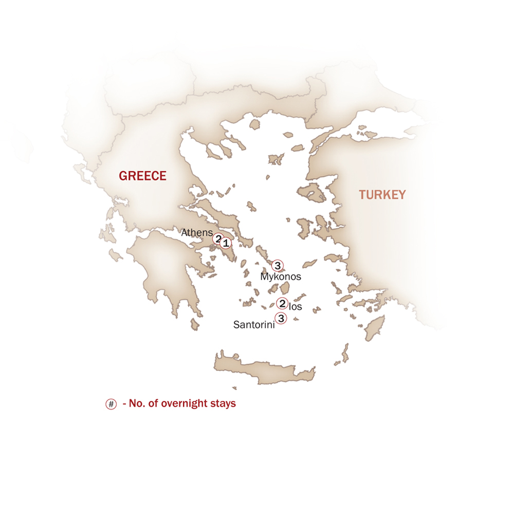 Greece Map  for THE AEGEAN