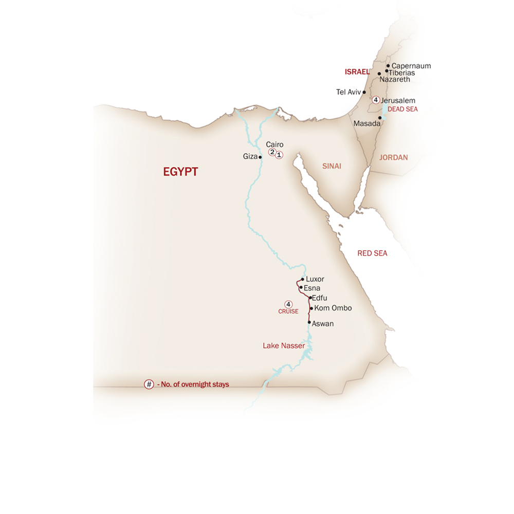 Egypt Map  for EGYPT & ISRAEL