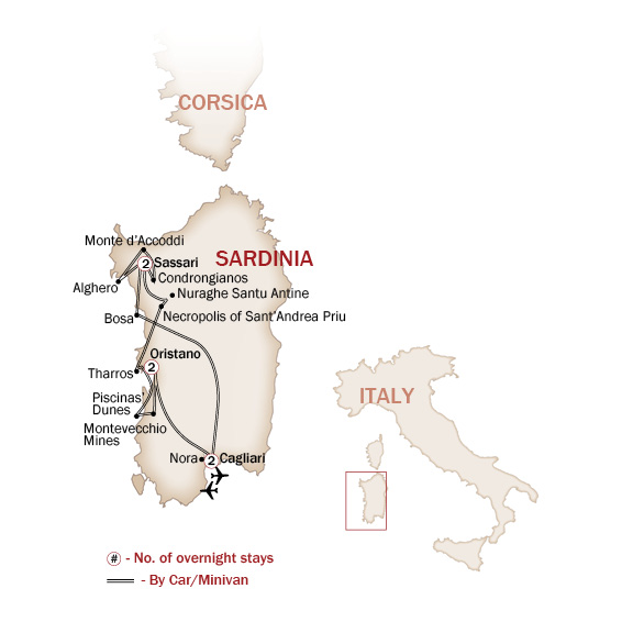 Italy Map  for The Natural Beauty of Sardinia
