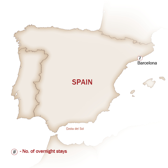 Spain Map  for SAVORY BARCELONA