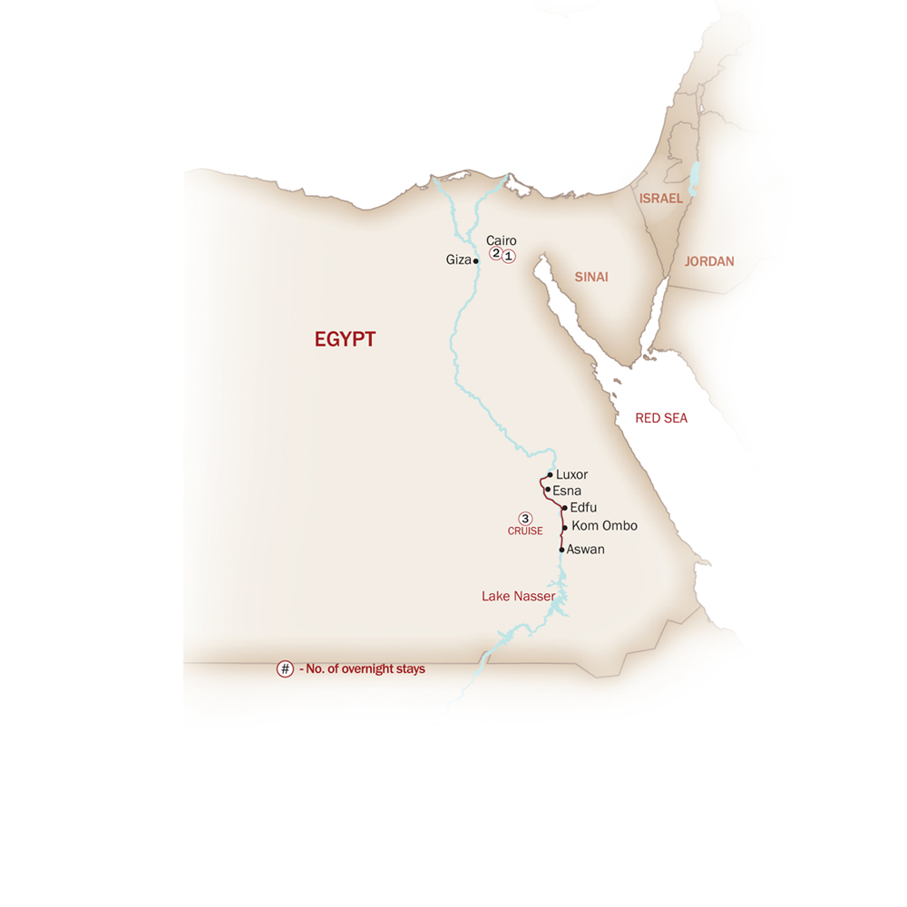 Egypt Map  for NILE VOYAGER