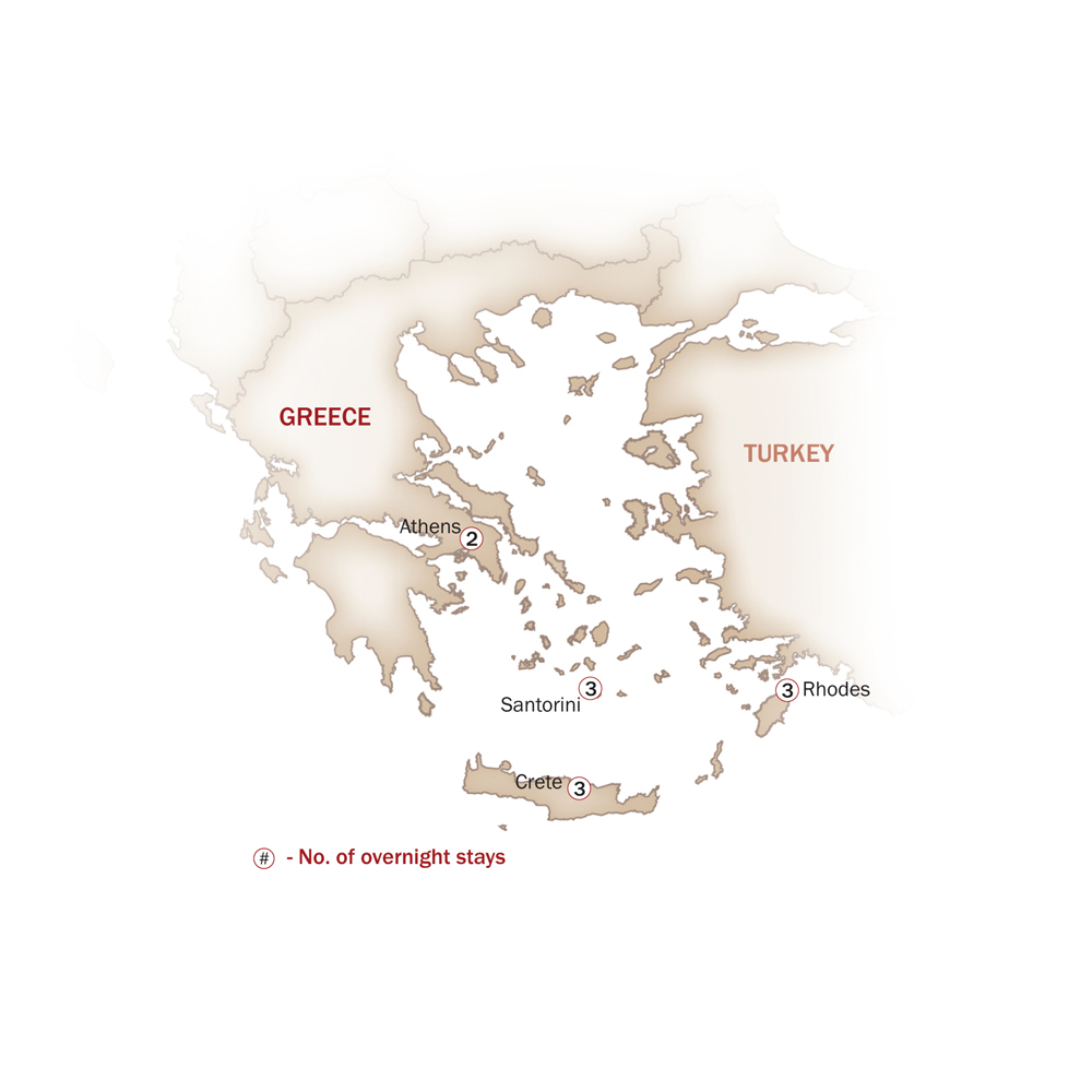 Greece Map  for Mythical Greece