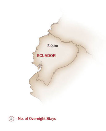 Ecuador & Galapagos Islands Map  for QUITO GETAWAY