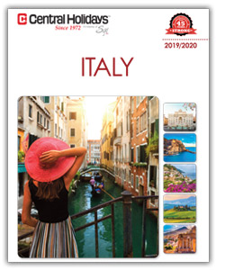 "Central Holidays Unveils Innovative New 2019 Italy Brochure  -- Including Small Group Escorted Tours, New ""Mosaics"" line, Customizable Honeymoons, and new ""Fun for Family and Kids"" travel program --"