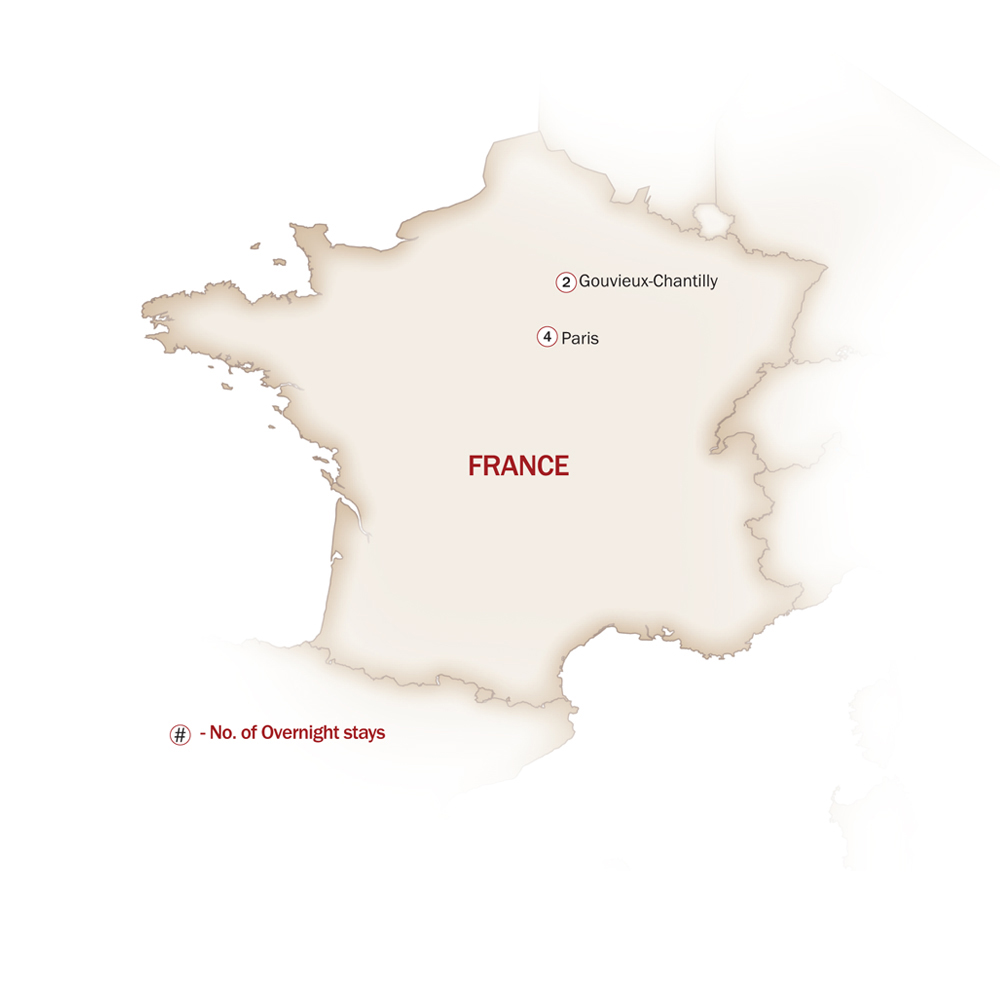 France Map  for THE ULTIMATE ROMANCE PACKAGE