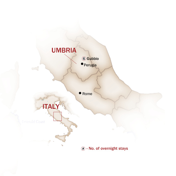 Italy Map  for TRUFFLES, WINES AND CHOCOLATES OF UMBRIA