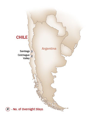 Chile Map  for CHILEAN WINES & MORE