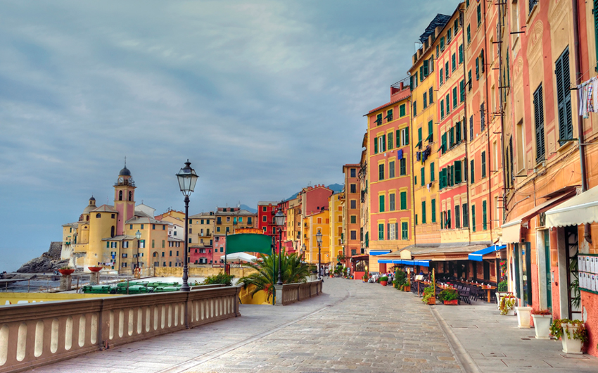 Glimpse of Camogli