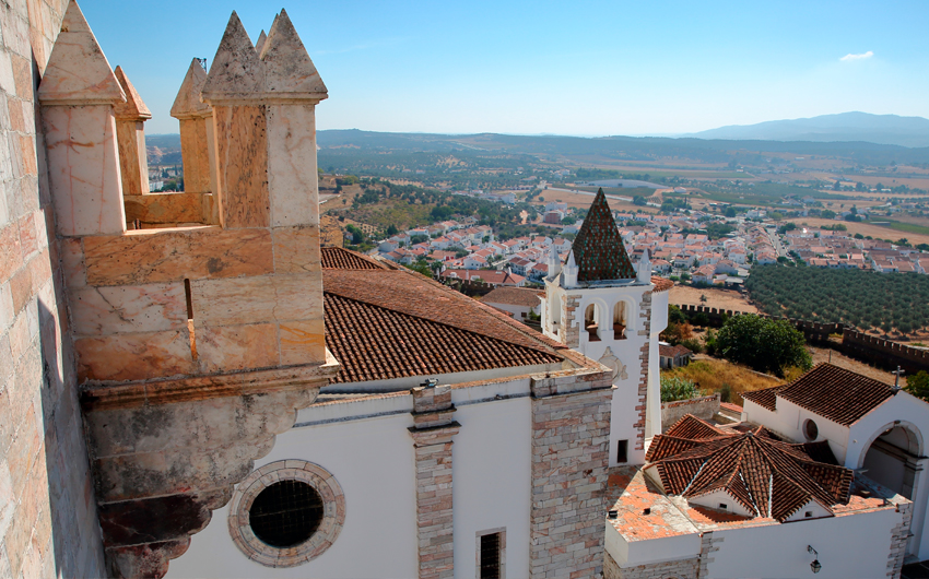 View from the Tower of the Three Crowns Torre das Tres Coroas, Estremoz