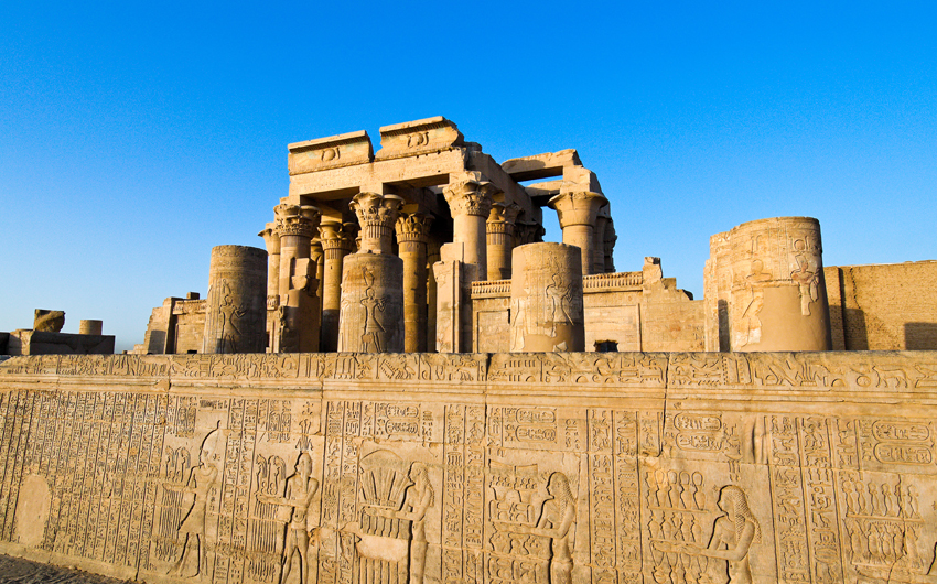 The picturesque double temple of Kom Ombo