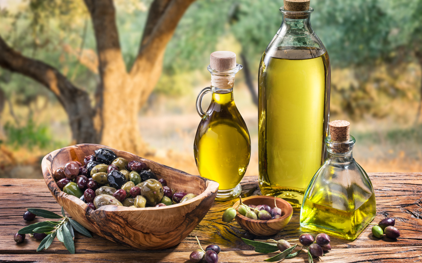 Olive grove, olives and olive oil