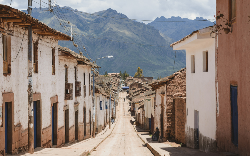 Maras city in the Sacred Valley
