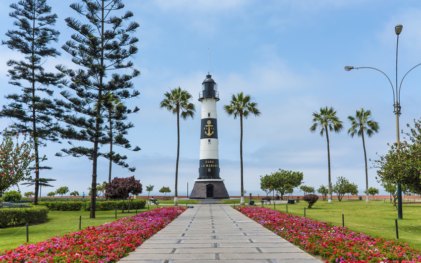 La Marina light house in Miraflores district