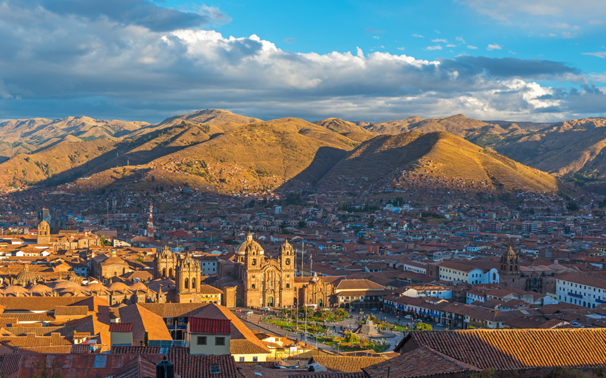 Cusco Cityscape at Sunset