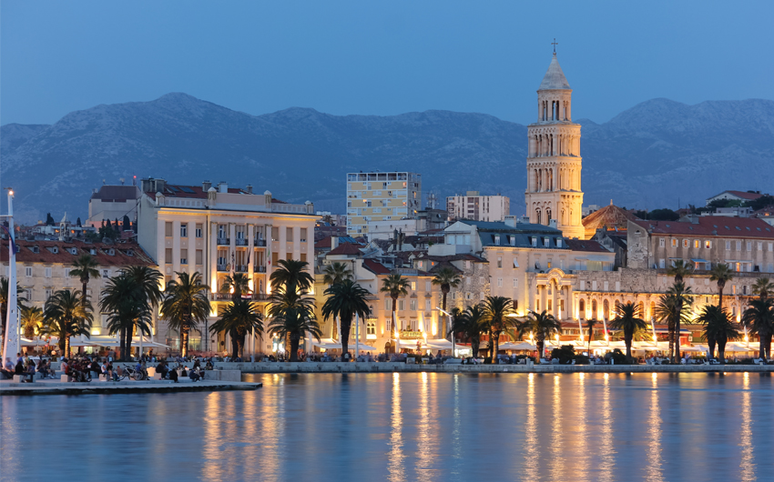 Magical Cityscape of old town Split